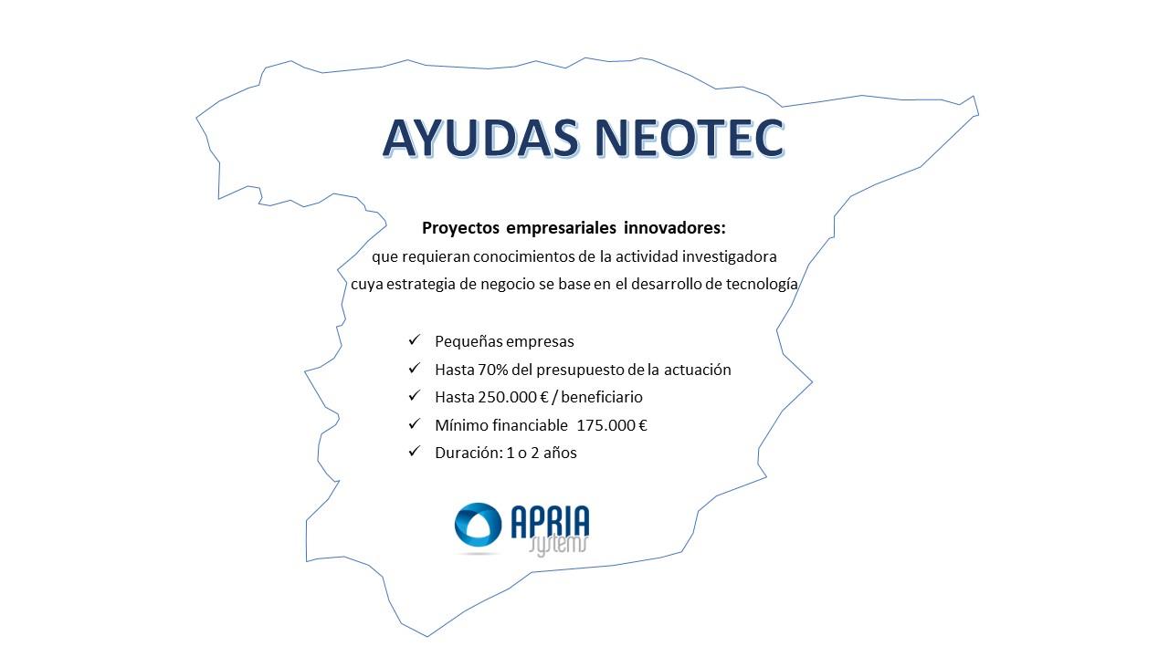 NEOTEC Funding Programme