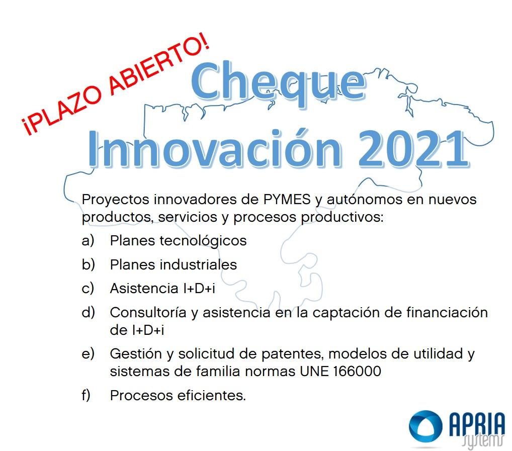 "Regional call ""Cheques de Innovación 2021"""